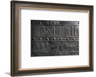 The wooden gates of Shalmaneser III, from Balawat, Iraq, Assyrian, c853 BC-Werner Forman-Framed Photographic Print