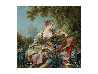 The Wooden Shoes (Les Sabot), 1768-Fran?ois Boucher-Giclee Print