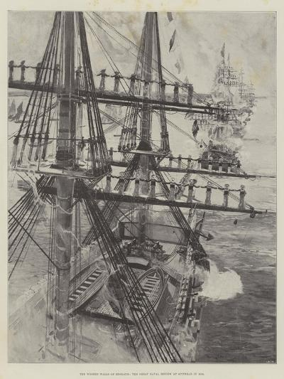 The Wooden Walls of England, the Great Naval Review at Spithead in 1856--Giclee Print