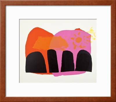 The Word Pitched His Tent-Corita Kent-Framed Art Print