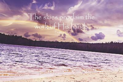 The Work of his Hands-Vintage Skies-Giclee Print