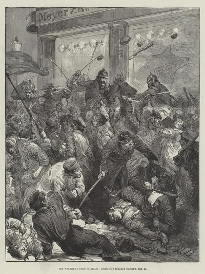 The Workmen's Riots in Berlin, Scene on Thursday Evening, 25 February--Giclee Print