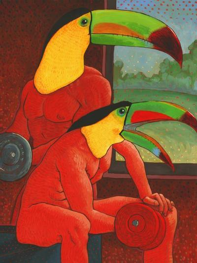 The Workout-John Newcomb-Giclee Print