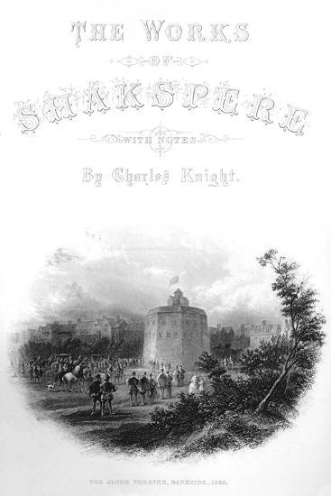 'The Works of Shakspere - The Globe Theatre, Bankside, 1593', c1870-Unknown-Giclee Print