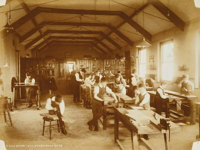 The Workshop at the Deaf and Dumb Institution, Derby, 19th Century--Photographic Print