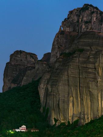 The World Heritage Site of Meteora at Early Dusk-Babak Tafreshi-Photographic Print