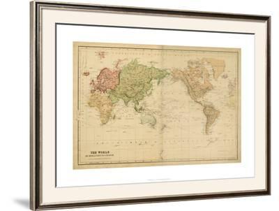 The World on Mercator's Projection--Framed Art Print