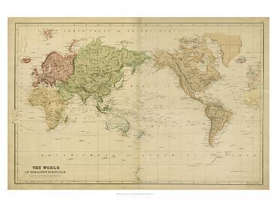 The World on Mercators Projection-Vision Studio-Art Print