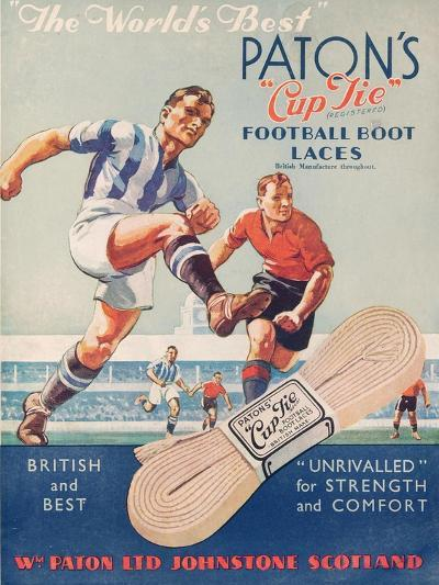 The World's Best', Poster Advertising Paton's Cup Tie Boot Laces--Giclee Print
