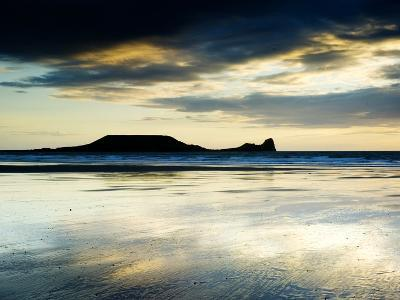 The Worms Head, Gower Peninsula, South Wales-Martin Page-Photographic Print