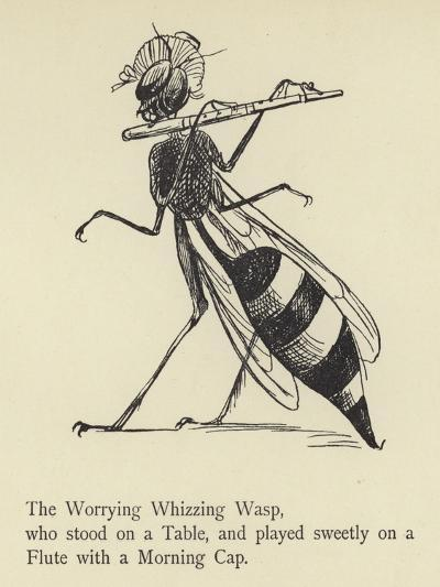 The Worrying Whizzing Wasp-Edward Lear-Giclee Print