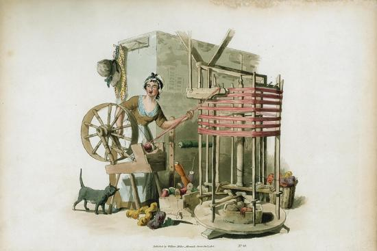 The Worsted Winder, 1805-William Henry Pyne-Giclee Print