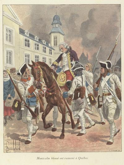 The Wounded General Montcalm Is Brought Back to Quebec, 1759-Louis Charles Bombled-Giclee Print