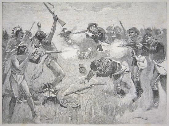 The Wounded Knee Massacre, 29th December 1890-American School-Giclee Print