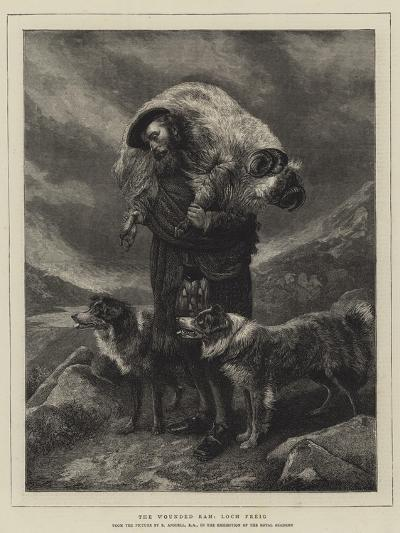 The Wounded Ram, Loch Freig-Richard Ansdell-Giclee Print