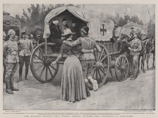 The Wounded Soldier's Best Friend, Sending Invalids from Ladysmith to Maritzburg-Frank Dadd-Giclee Print