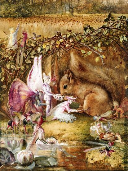 The Wounded Squirrel-John Anster Fitzgerald-Giclee Print