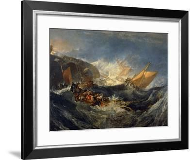 The Wreck of a Transport Ship Circa 1810-J^ M^ W^ Turner-Framed Giclee Print