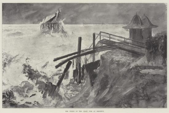 The Wreck of the Chain Pier at Brighton-Henry Charles Seppings Wright-Giclee Print