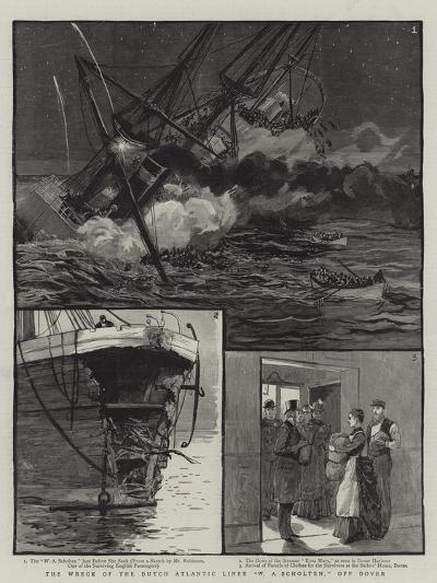 The Wreck of the Dutch Atlantic Liner W a Scholten, Off Dover--Giclee Print