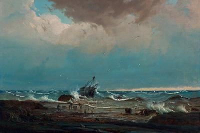 The Wreck of the 'George the Third', 1850-Knud Geelmuyden Bull-Giclee Print