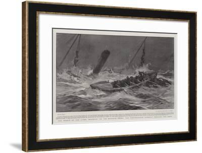 The Wreck of the Liner Mohegan on the Manacle Rocks, the Porthoustock Lifeboat Rescuing the Crew-Joseph Nash-Framed Giclee Print