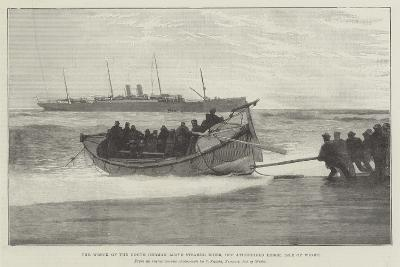 The Wreck of the North German Lloyd Steamer Eider, Off Atherfield Ledge, Isle of Wight--Giclee Print