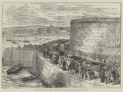 The Wreck of the Schiller, Funeral Procession at the Burial of the Drowned, St Mary'S, Scilly Isles--Giclee Print