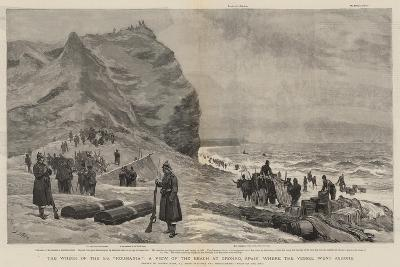 The Wreck of the Ss Roumania, a View of the Beach at Gronho, Spain, Where the Vessel Went Ashore-Joseph Nash-Giclee Print