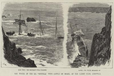 The Wreck of the Ss Suffolk, with Cattle on Board, at the Lizard Head, Cornwall-Joseph Nash-Giclee Print