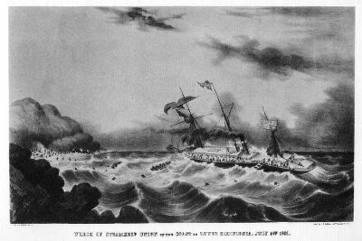 The Wreck of the Steamship 'Union' on the Coast of Lower California, 1851-John Henry Bufford-Giclee Print