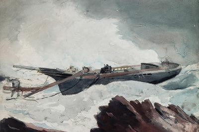 The Wrecked Schooner, C.1900-10-Winslow Homer-Giclee Print