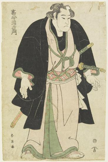 The Wrestler Takasago Uraemon-Katsukawa Shun'ei-Giclee Print