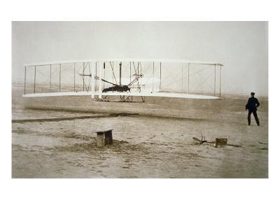 The Wright Brothers Making their First Powered Flight, 17th December, 1903--Giclee Print