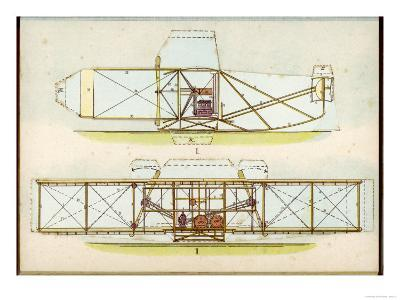 The Wright Flyer I in Which the First Powered Flight is Made at Kill Devil Hills North Carolina--Giclee Print