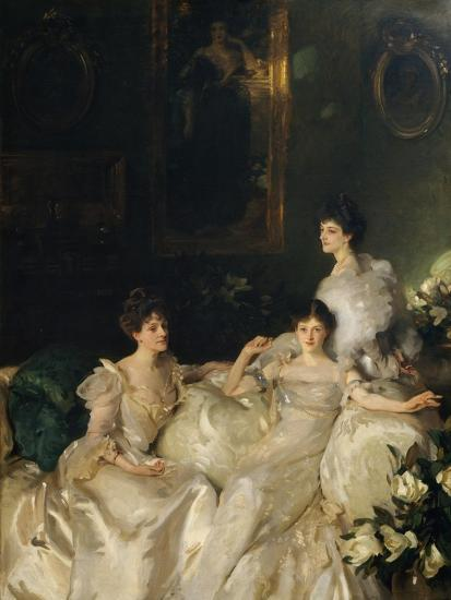 The Wyndham Sisters: Lady Elcho, Mrs. Adeane, and Mrs. Tennant, 1899-John Singer Sargent-Giclee Print