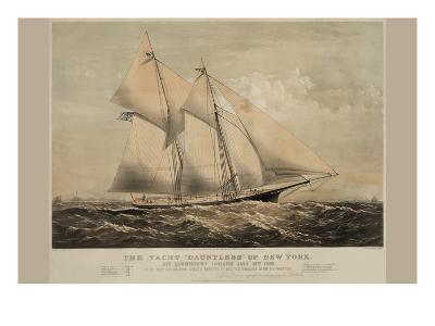"""The Yacht """"Dauntless"""" of New York--Art Print"""