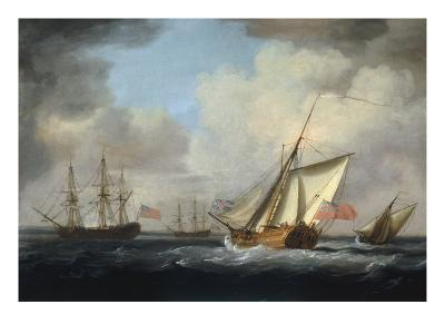 The Yacht 'Dorset'-Charles Brooking-Giclee Print