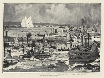 The Yachting Fever in New York, Excursion Steamers Which Follow the Racing-Charles Edward Dixon-Giclee Print