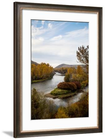 The Yakima River On The East Side Of The Cascades In Washington-Michael Hanson-Framed Photographic Print
