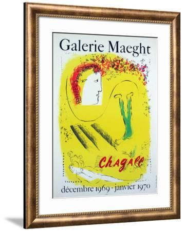The Yellow Background, 1969-Marc Chagall-Framed Collectable Print