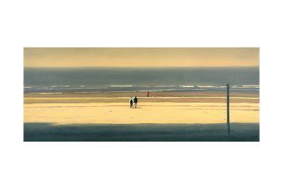 The Yellow Beach-Mark Van Crombrugge-Art Print