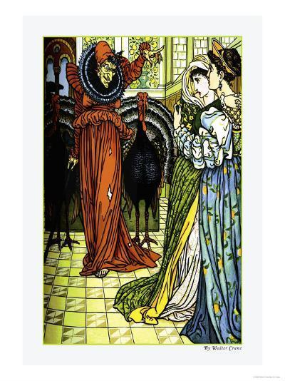 The Yellow Dwarf, The Sorcerer, c.1878-Walter Crane-Art Print