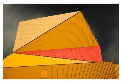 The yellow roof-Gilbert Claes-Art Print