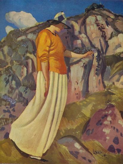 'The Yellow Skirt', 1914-Derwent Lees-Giclee Print