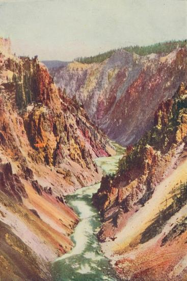 'The Yellowstone River', 1916-Unknown-Giclee Print