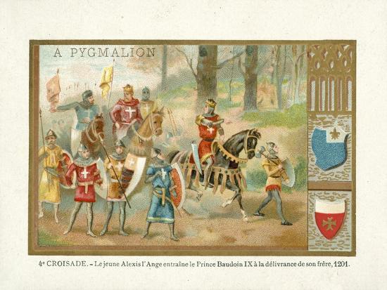 The Young Alexios IV Angelos Brings Baldwin Ix--Giclee Print
