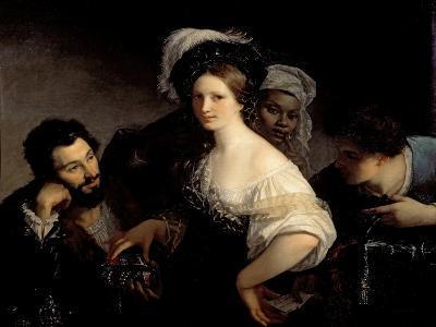 The Young Courtesan-Alexandre Francois Xavier Sigalon-Giclee Print