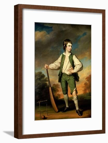 The Young Cricketer - Portrait of Lewis Cage, 1768-Francis Cotes-Framed Premium Giclee Print