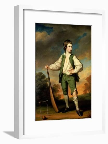 The Young Cricketer - Portrait of Lewis Cage, 1768-Francis Cotes-Framed Giclee Print
